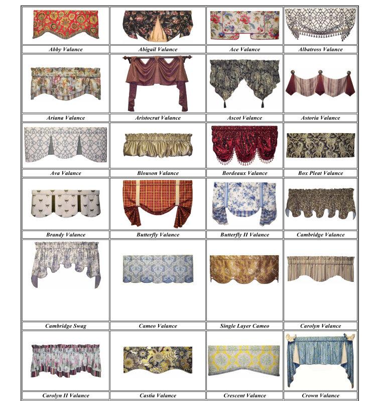 Curtains valances styles